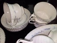 Paragon morning rose tea set