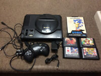 ORIGINAL Sega Mega Drive MK1 Console 16 Bit Bundle with 5 games PAL UK