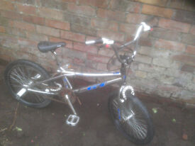 Classic Silver GT BMX w/ FITTED MAGURA MOUTAIN BIKE BRAKES