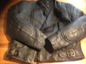 Wolf motorcycle men's leather jacket