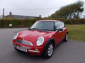 2004 04 MINI ONE 1.6 AUTOMATIC 3 DOOR BRIGHT RED