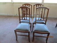 Set of 4 Mahogany Chairs