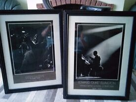 Two jazz pictures for sale. Black frames. 57cmx 75 cm.