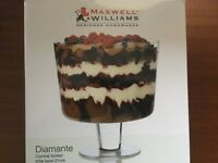 Maxwell Conical Trifle bowl as new in box