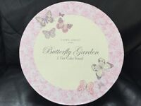 Laura Ashley Butterfly Garden 2 Tier Cake Stand. Fine Bone China. New in Box.