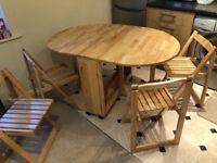 Foldaway dining table