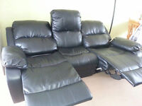 3 seater sofa with manual recliner