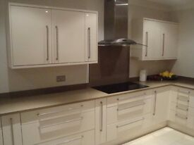 Beautiful cream gloss kitchen & appliances