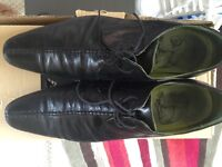 Black Leather Shoes - uk size 9