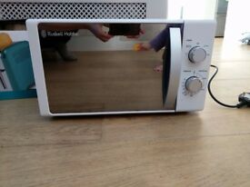 hardly used microwave from Russell Hobbs for sale