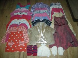 Large bundle (27 items) of girls clothes (inc M&S, Next and Monsoon items) for ages 3-4 years