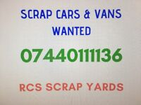 We want your scrap car or van - Same day collection