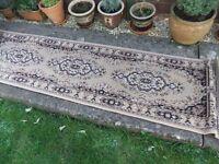 """Narrow beige rug 61 cms (24"""") x 225 (88.5"""")"""