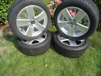 4x17 GENUINE Alloys Wheels and TYRES Will Fit VW T- 4 VW Caddy Golf Passat Sharan Audi TT / A3