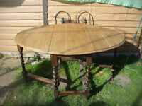 Oak dropleaf gateleg table
