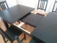 Ikea expandable table with chairs - brand new for sale