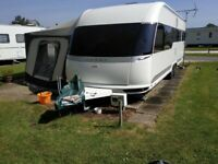 c7d7bc2742 Hobby Premium 650 UFf 4 Berth 4 wheel Caravan 2017 in pristine condition