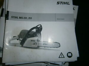 Stihl ms231 ms251 ms 231 251 tron onneuse notice d - Tronconneuse stihl ms 251 ...