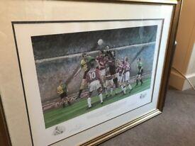Framed Aston Villa Print from Cup Final 1994