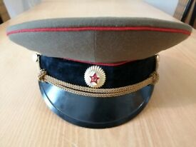 AUTHENTIC SOVIET COLD WAR ARMY MILITARY OFFICER'S CAP