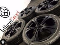 NEW 17'' ALLOY WHEELS & TYRES-4 X 100- CRYSTAL BLACK-(VW,Vauxhall,Honda,Nissan,Mini) Wheel Smart