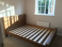 KING Size Wooden Bed - Like New