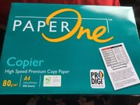 One pack of A4 Paper One High Speed Premium Copy Paper 500 sheets NEW in pack