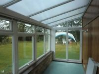 5 yr old Conservatory dismantled ready for collection some blinds included