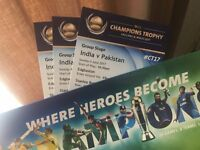(3 tickets) India v Pakistan - ICC Champion's Trophy - 4th June