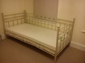 Single bed Metal cream day bed (Frame only)