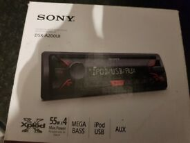 Sony xplode Mp3 car radio in box with manuals