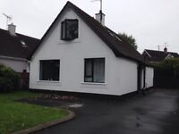 Well presented unfurnished three bedroom detached chalet bungalow in a superb location