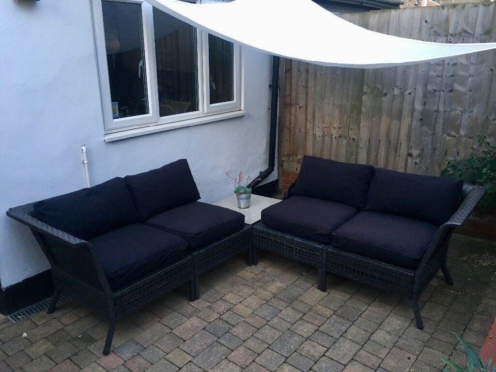 Ikea Kungsholmen Outdoor Garden Patio Furniture Sectional Sofa Table