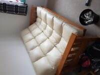 Leather Sofa Bed (Sofabed)