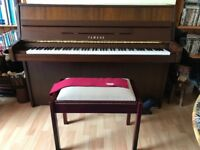 B1 SG2 Yamaha Silent Piano in Walnut Satin Oak with Matching Stool