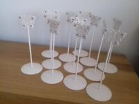 12 Wedding Table Number Holders Butterfly Design