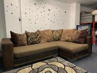 DFS Fabric corner sofa delivery 🚚 suite couch furniture