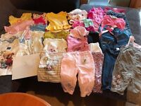 Huge bandle of baby girl clothes – 9-12 months( VERY GOOD CONDITION)