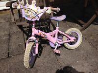disney princess childs bike 12 inch wheel