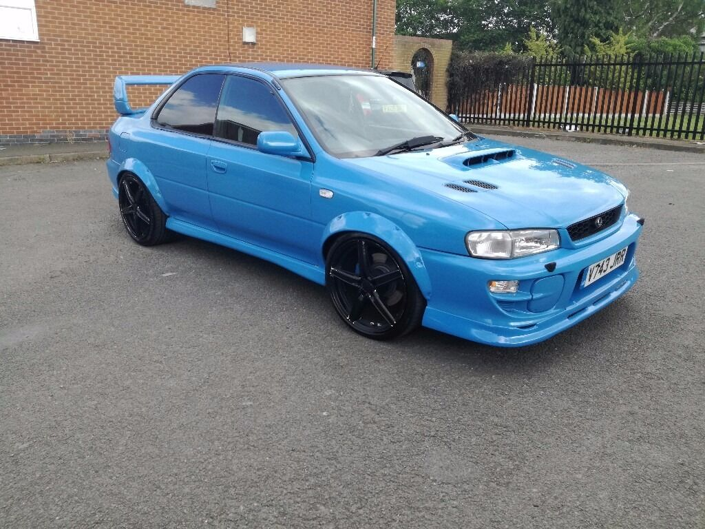 rare 2 door subaru impreza turbo 2000 blue 22b wrx uk sti. Black Bedroom Furniture Sets. Home Design Ideas