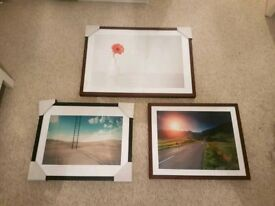 Picture frames - great condition - Real Wood and black laminate