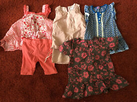 A Job Lot bundle of baby girl's clothes - dresses 18-24 months