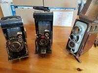 Vintage cameras and recorder