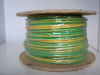 Cable earthing green and yellow