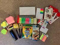 Stationary: Post it/Stapler/Tape/Pens/Photo Paper/Highlighter/Envelopes/Ink Cartridge
