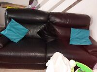 2x Real Leather sofas