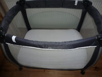 Mamas & Papas Travel Cot Bed Matching Mattress Grand Parents Spare Babies Toddlers Nursery Furniture