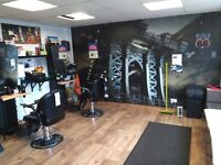 Shop lease for sale with barber's business