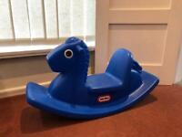 Little Tikes Blue Plastic Rocking Horse