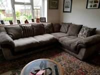 DFS large corner sofa & chair
